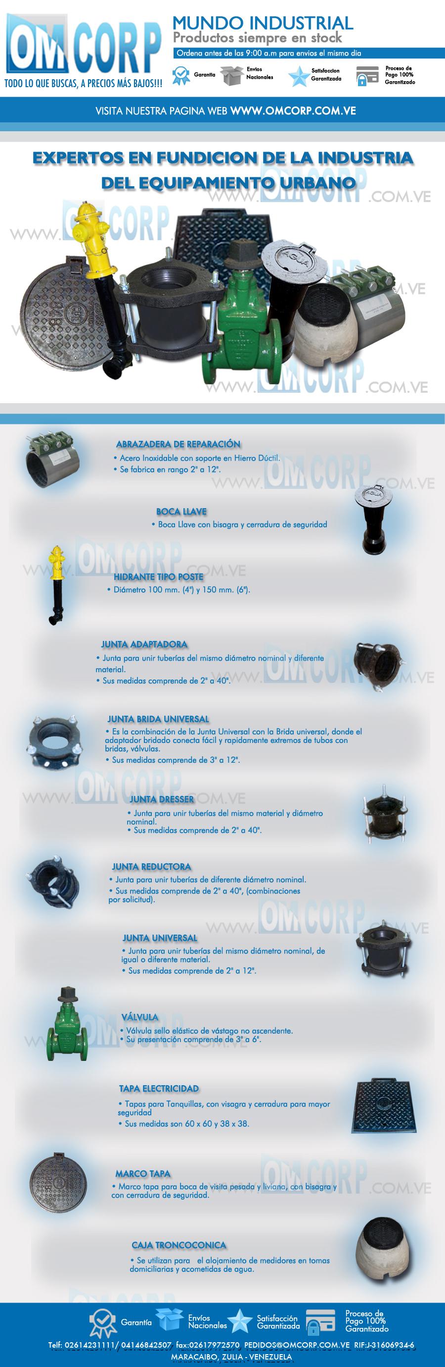 Válvulas Compuerta Vastago Junta Universal Hidrantes Tapa