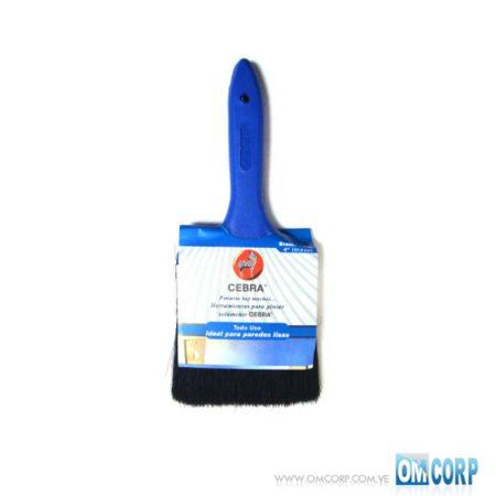 Brocha Para Pintar 4 Con Mango Azul Serie 1200 Cebra