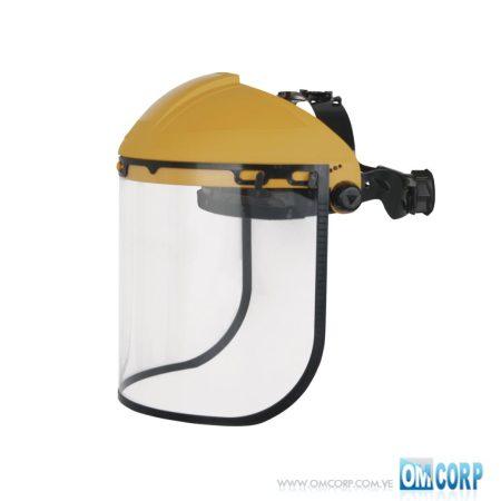 Protector Facial Amarillo con Pantalla Policarbonato Incoloro y Atalaje BALBI2 Delta Plus