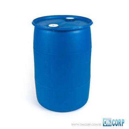 Tambor Plástico 208 Litros Azul Cerrado con tapas MIA20565P