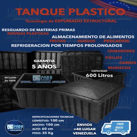 Tanque Plastico 600 Litros Para Alimento y Materia Prima