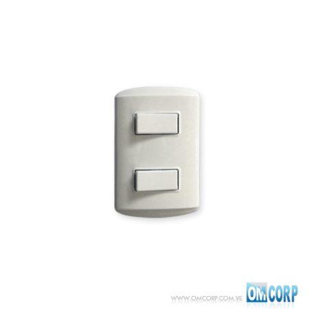 Interruptor Doble Blanco Arena M7200 Koby