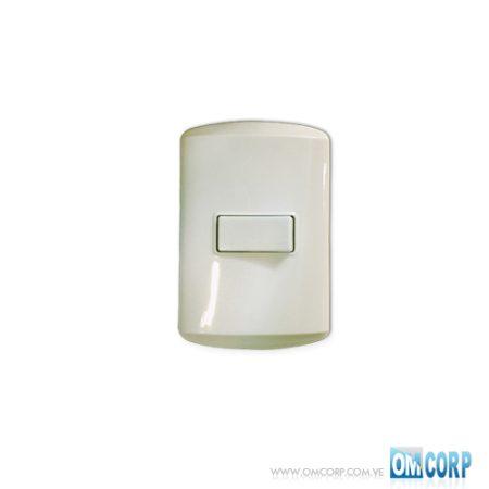 Interruptor Sencillo Blanco Arena M7100 Koby