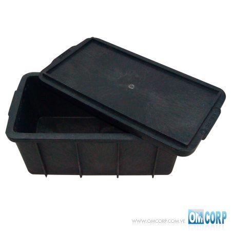 Caja Plastica Industrial 40 Litros Con Tapa Gris Oscuro MIA0I041W