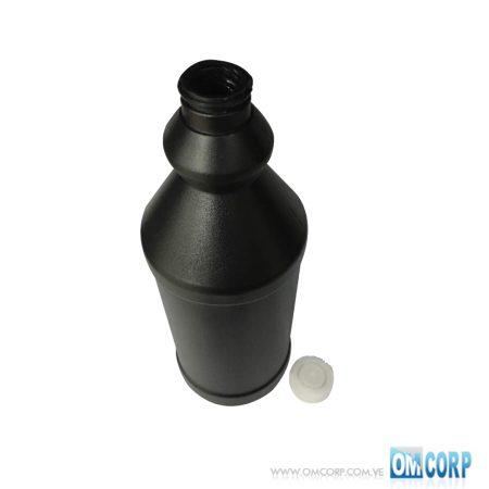 Envase Plastico 1 Litro Negro Tipo Botella Con Tapa Presion MIA10164P