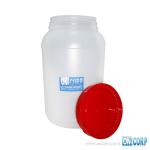 Galon Plastico Alimento Cilindrico Color Natural Tapa Roja
