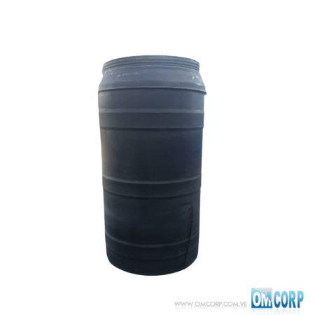 Tambor Abierto Plastico 220 Litros Tapa Rosca Negro MIA81134P